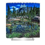 Evening At Cathedral Lakes Shower Curtain