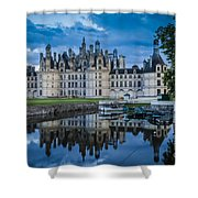 Evening At Chateau Chambord Shower Curtain