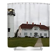 Evening At Chatham  Lighthouse Shower Curtain