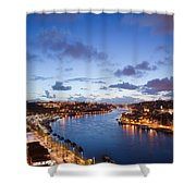 Evening At Douro River In Portugal Shower Curtain