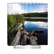 Evening At Red Rock Lake Shower Curtain