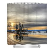 Evening At Sand Harbor Shower Curtain