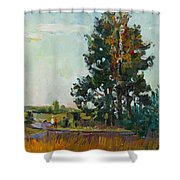 Evening At The Forest Edge Shower Curtain