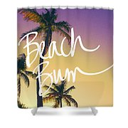 Evening Beach Bum Shower Curtain