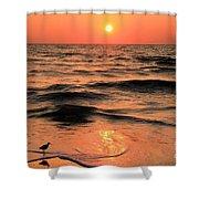 Evening Beach Stroll Shower Curtain