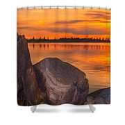 Evening Beauty Shower Curtain