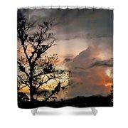 Evening Break In Rain Clouds Shower Curtain