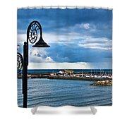 Evening Calm At Lyme Regis Shower Curtain