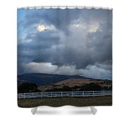 Evening Clouds Over Ashland Farm Country Shower Curtain