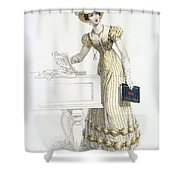 Evening Dress, Fashion Plate Shower Curtain