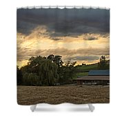 Evening Farm Scene Near Ashland Shower Curtain