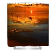 Evening Fishing Shower Curtain