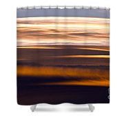 Evening Golds Shower Curtain