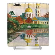 Evening Gong Of The Russian Church Shower Curtain