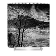 Evening Great Falls Maine Shower Curtain