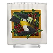 Evening Grosbeak Shower Curtain