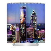 Evening In Atlanta Edge Side Shower Curtain