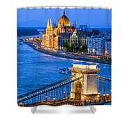 Evening In Budapest Shower Curtain