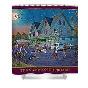 Evening In Campton Village Shower Curtain