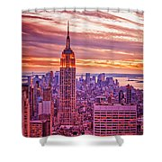 Evening In New York City Shower Curtain by Sabine Jacobs