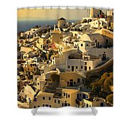 evening in Oia Shower Curtain
