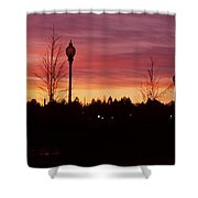 Evening In Riverfront Park Shower Curtain