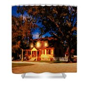 Evening In Small Town U. S. A. Shower Curtain