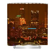 Evening In The City Of Champions Shower Curtain