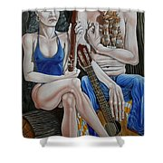 Evening In The Forest Shower Curtain