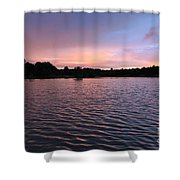 Evening Light Amazon River Shower Curtain