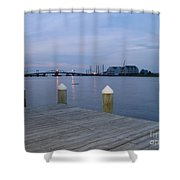 Evening Light At Chincoteague Sound  Shower Curtain