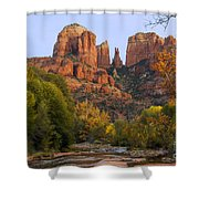 Evening Light On Cathedral Rock Shower Curtain