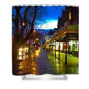 Evening Light On Lord Street Shower Curtain