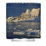 Evening Light On Peaks Paradise Bay Shower Curtain