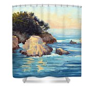 Evening Light Point Lobos Shower Curtain