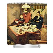 Evening Light, Pub. In Lasst Licht Shower Curtain