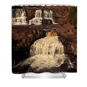 Evening Light Waterfalls Shower Curtain