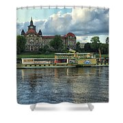 Evening Mood On The Elbe Shower Curtain