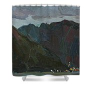 Evening Mountains In The Gulf Shower Curtain