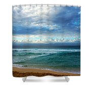 Evening North Shore Oahu Hawaii Shower Curtain