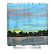 Evening On Ema River Shower Curtain