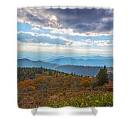 Evening On The Blue Ridge Parkway Shower Curtain
