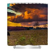 Evening On The Farm Five Shower Curtain