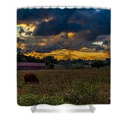 Evening On The Farm One Shower Curtain