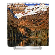 Evening On The Great Divide Painted Shower Curtain
