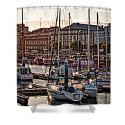 Evening On The Harbor  Shower Curtain