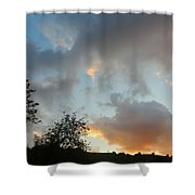 Evening On The Hill Shower Curtain