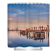 Evening On The Humboldt Bay Shower Curtain