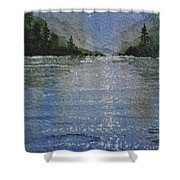 Evening On The Lake Shower Curtain