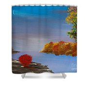 Evening On The Last Sunny Day Shower Curtain